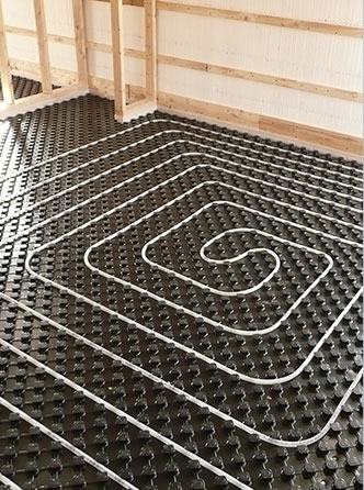 hydronic heating - in floor heat - radiant floor heat